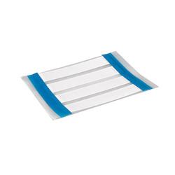 "Heat Shrink Labels, Single Side, 3-Slit, .25"" (6.35mm), PO-X, White, 1000/box"