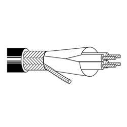 Multi-conducteurs-1000V UL d'alimentation moteur Flexible câble 3 4/0 133STC VFD 600V Black