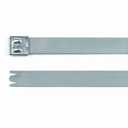 """Stainless Steel Tie, 20.5"""" Long, 922lb Tensile Strength, SS316, Metal, 50/pkg"""