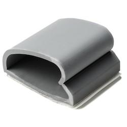 "WAC Adhesive Cable Clamp, 0.75"" Max. Bundle Dia, PVC, Gray, 500/pkg"