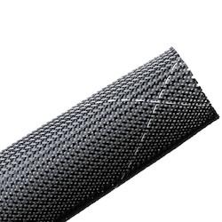 "Plenum Rated Expandable Braided Sleeving (Halar), 1.75"" Dia, Black, 30 ft/reel"