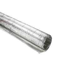 "Braided Wrap, Aluminum Laminated Fiberglass, 4' Long Stick, 1.5"" Dia, AL/GF, Silver, 4/box"