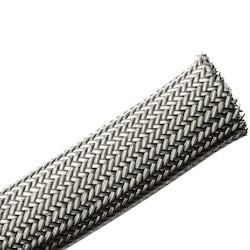 Electromagnetic Protection Braided Sleeving, Flame Retardant, 20 mm Dia,PET;TNCU, TCBK, 164ft/Reel