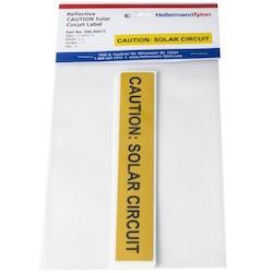 "Solar Label, Reflective, CAUTION SOLAR CIRCUIT, 6.5"" x 1.0"", VL, Yellow, 10/pkg"