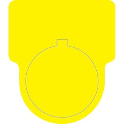 "Foam Nameplate, 1.2"" x 1.5"" Button Label With .88"" Hole, PET, Yellow, 250/roll"