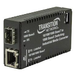 Mini Gigabit Ethernet Unidirectional Media Converter<br />10/100/1000Base-T Port to 100/1000Base-X Port