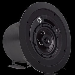 """4"""" Coaxial Speaker System with 70.7V/100V-16W Transformer and 8ohm Bypass - Black"""