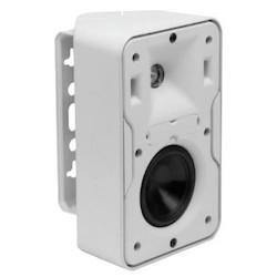 "Speaker, 2-Way, Compact Full-Range, 91 dB, 10 Watt at 100 Volt, 100 Hertz to 22 Kilohertz, 3.5"" Woofer, 0.75"" Tweeter, 5.5"" Width x 4.7"" Depth x 8.8"" Height, White"
