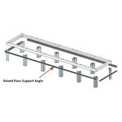"Support Angles, 5 Bay, 36""D Racks"