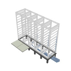 "Riser Base, 4 Bay, 36""D, MRK Racks"