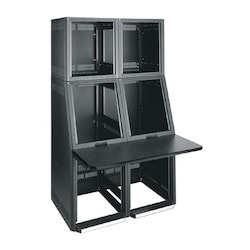 "SC-1427-1217BK w/Slide-Out Rack Bay, 23"" usable depth rack overall 22"" wide, 51-7/8"" high"