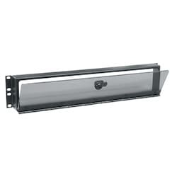 Security Cover, 2 RU, Hinged Plexi