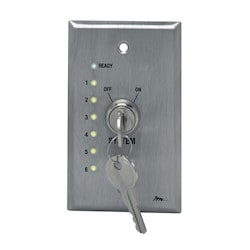 Remote Wall Plate Keyswitch w/LED Status Indicators