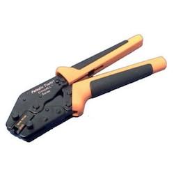 "Modular Plug Hand Tool, High Performance, Cat 5/5E/Cat 6, RJ45, 9.7"" Length x 2.5"" Height, Black Oxide Steel, Orange"
