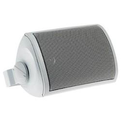 """Outdoor Speaker, Rectangular, 90 dB, 100 Watt, 65 to 20 Kilohertz, 5.25"""" Woofer, 6.3"""" Length x 9.45"""" Height, White"""