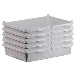 """Enclosure, 17.1"""" Width x 4.17"""" Depth x 20.9"""" Height, ABS Plastic, White, 5 per Pack"""