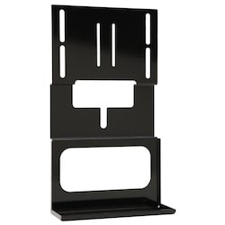 """A/V Component Shelf Accessory Bracket, 30 Lb Load Capacity, 18.46"""" Width x 4.62"""" Depth x 10.5"""" Height, Heavy Gauge Cold Rolled Steel, Powder Coated, Black, For Large SA Mount"""