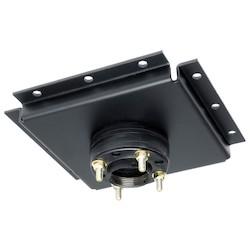Adaptateur de plafond, matériel de non-sécurité, capacité de charge de 300 lb, poudre enduite, noire, avec découpleur de stress, pour le plafond structurel