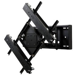 """Video Wall Mount, Security Hardware, 125 Lb Load, 26.94"""" Width x 4.45 to 12.95"""" Depth x 18.79"""" Height, Matte Powder Coated, Black, For 46 to 70"""" Display"""