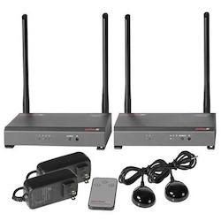 """Wireless HD Multimedia System, 2-External Antenna, 120 Volt AC 60 Hertz, 6.85"""" Width x 5.43"""" Depth x 8.38"""" Height, Metal Housing, Black"""