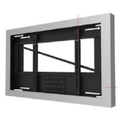 "Landscape Kiosk Enclosure, 75 Lb Load, Fits 55"" Screen, 56"" Width x 5.45"" Depth x 34.01"" Height, Gloss Black"