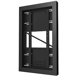 "Portrait Kiosk Enclosure, Hex Pin Screw, 75 Lb Load, Fits 42"" Screen, 27.1"" Width x 3.94"" Depth x 44.24"" Height, Gloss Black"