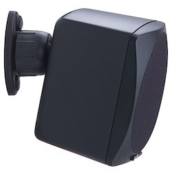 Wall and Ceiling Speaker Mount, Universal, Non-Security Hardware, +/-37.5 Degree Tilt, Powder Coated, Black