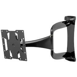 """Articulating Wall Mount, Non-Security Hardware, 60 Lb Load, 16.38"""" Width x 1.74 to 24.74"""" Depth x 16.14"""" Height, High Gloss, Black, For 32 to 40"""" Ultra-Thin Display"""