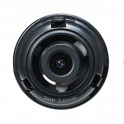 """1/2.8"""" 2M CMOS with a 3.6mm fixed focal lens, FoV: H: 94.8, V: 49.3"""