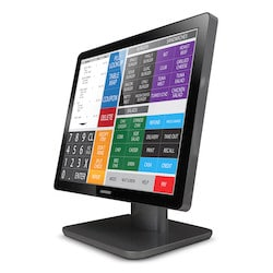 GVision, 15in LCD Touch Screen, PCAP 10 Point Touch (USB), Desktop, LED, VGA+DVI+HDMI, Audio In, XGA 1024x768, 270 Nits, 1500:1 Contrast, Speakers(option), 100mm VESA, Black, 90 Degree Tilt Stand