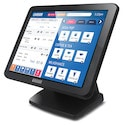 GVision, 15in LCD Touch Screen, Desktop, VGA+DVI, XGA 1024x768, 250 Nits, 500:1 Contrast, 5-Wire Resistive-Dual USB+Serial, 75mm VESA, Black, 90 Degree Tilt Stand