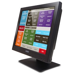 GVision, 17in LCD Touch Screen, Desktop, VGA+DVI, SXGA 1280x1024, 350 Nits, 1000:1 Contrast, 5-Wire Resistive-Dual USB+Serial, Speakers, 100mm VESA, Black, 90 Degree Tilt Stand
