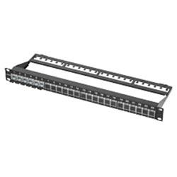 """Connectorized FutureCom LANscape Patch Panels 19""""24 FutureCom S500 modules, Black"""