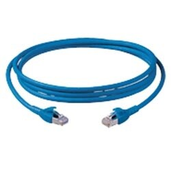 10TEN PATCHCORD S/FTP FLEX 4PR26AWG BLUE RJ45/RJ45 CAT6     10GBS 10 MT