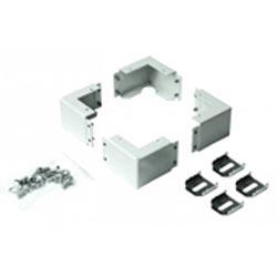 4PLINTH CORNERS FOR CABINETS  ROF/REV,ADD SIDE PANELS DP-P. 200MM HIGH, GREY