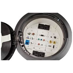 TracJack Module, 3.5 mm stereo jack, F/F, 180-degree exit, Fog White