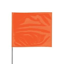 Orange Glo Plain Marking Flag 4X5 21""