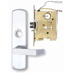 Electrified Breakaway Exit Device Trim, Rim, Left Hand Reverse, 24 Volt DC, Satin Chrome Plated, For Rim/Vertical Rod Device