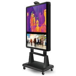 55in LCD Thermal Control Mobile Kiosk, LED Backlight, UHD 3840 x 2060, Thermal Camera Build-in, Android Build-in, Noir