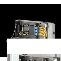 Pretium Wall-Mountable Housing (PWH) Holds 2 CCH Connector Panels
