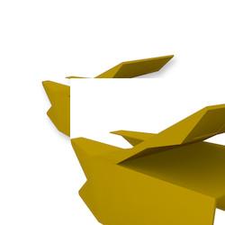 Reverse Polarity LC UniBoot, Duplex Clip, Bulk Pack, yellow
