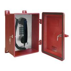 NEMA 4X Analog Rugged Telephone (Red) with Keylock Door