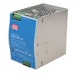 480 Watt Industrial Slim High-Efficiency Single Output DIN Rail Power Supply - 48 VDC / 10.0 Amps