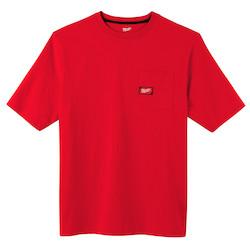 Heavy Duty Pocket T-Shirt - Short Sleeve - Red 2X