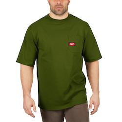 Heavy Duty Pocket T-Shirt - Short Sleeve - Green S