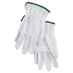 Premium-Grade Leather Driving Gloves, Goatskin, Medium, Unlined