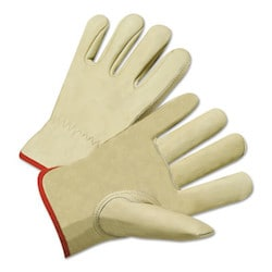 Drivers Gloves, Standard Grain Cowhide, 2X-Large, Unlined, Tan