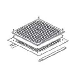 INST.FRAME FIR DP-VEN-04/05/06W/ FILTER, FOR RACKS ROV W/   1000 D, RAL9005