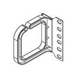 HORIZONTAL CABLE BRACKET 80X80FOR VERTICAL CABLE MANAGEMENT PLASTIC, BLACK