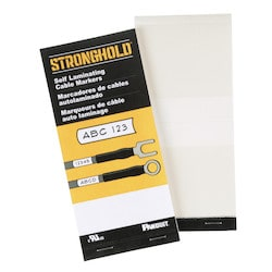 """Write-On Self-Laminating Wire Marker Cards, Vinyl, 1.00"""" W x 5.00"""" L, 1.00"""" POA, 3 Markers"""